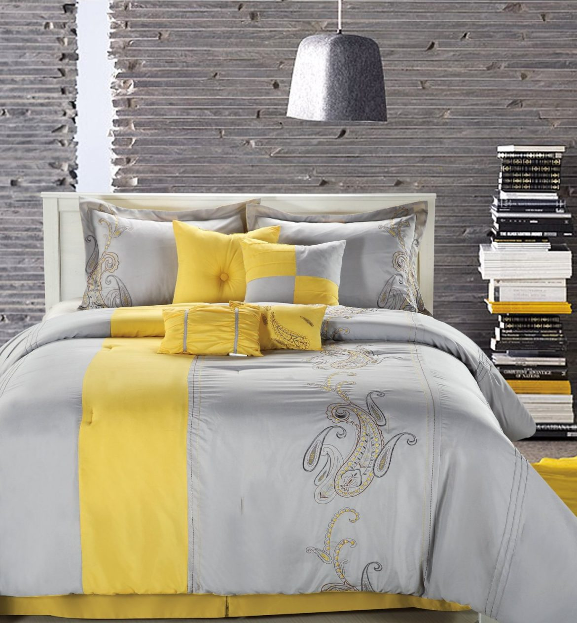 50 Shades of Grey Bedroom Decorating Ideas grey brown and yellow bedroom fhpt6cs7