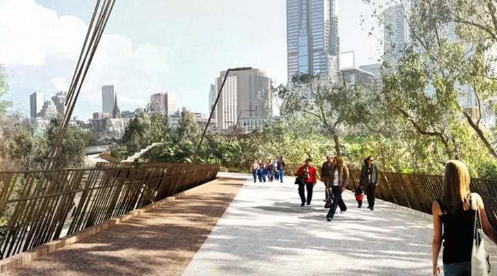 New Melbourne bridge from Wardle