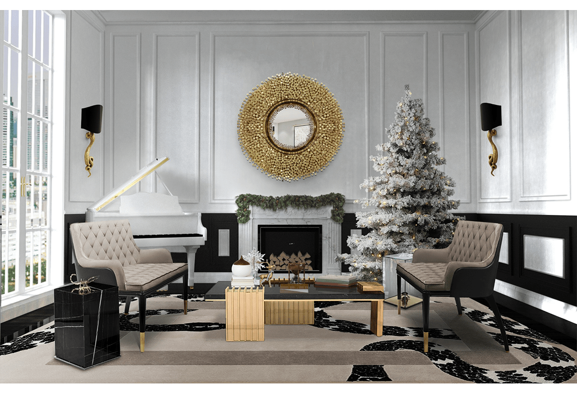 living room decor christmas decor ideas 5 Christmas Decor Ideas to an Elegant Atmosphere imperial snake christmas 1
