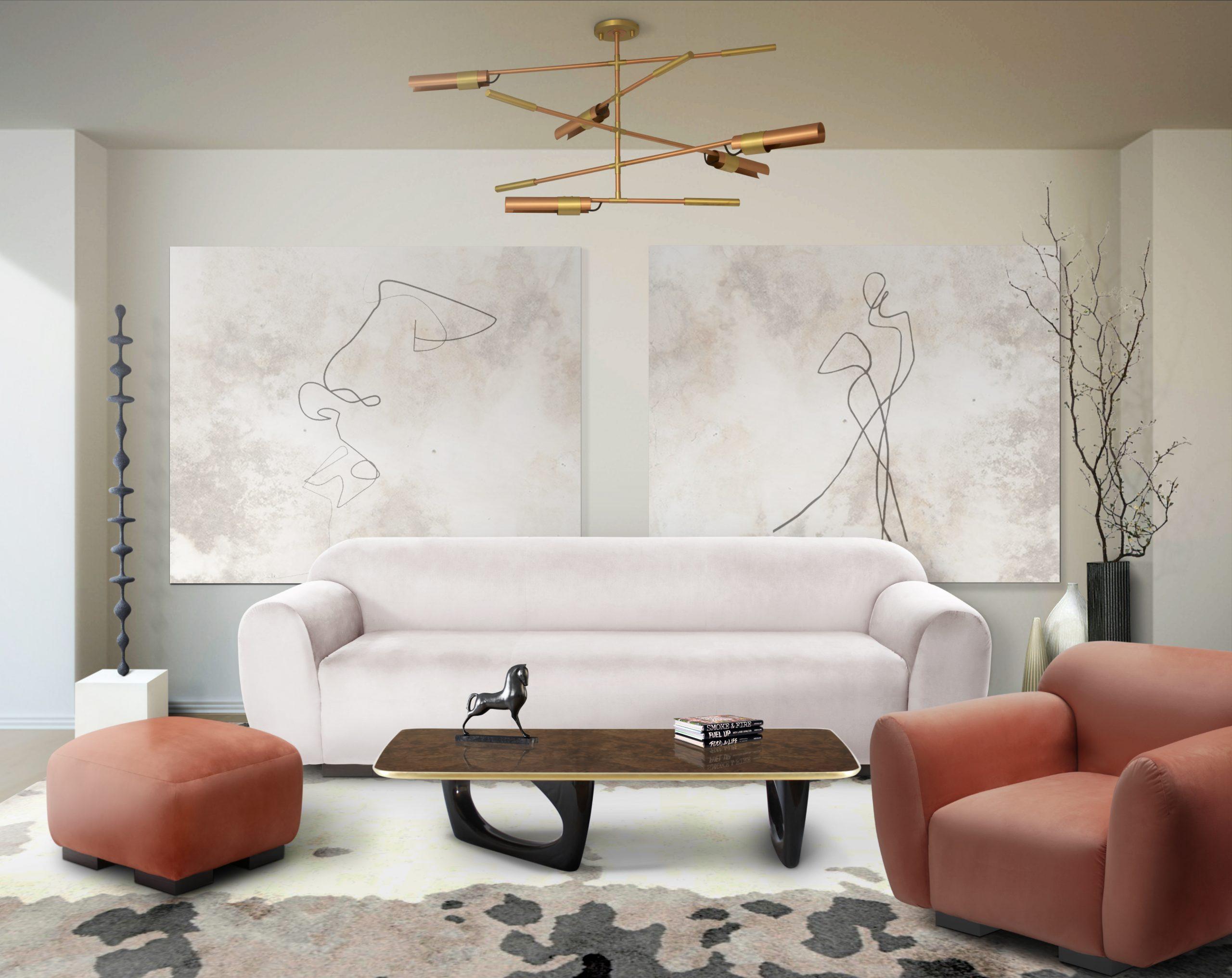 5 Lighting Design Trends for 2020 5 lighting design trends 5 Lighting Design Trends for 2020 living otter sofa koben suspension scaled