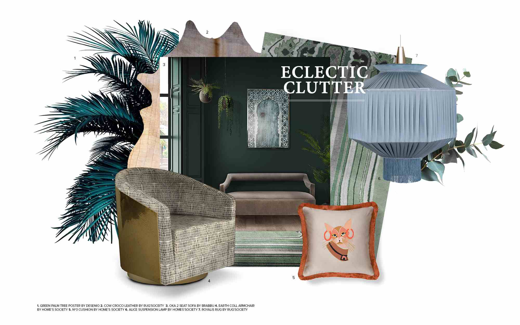 Eclectic Clutter mood boards MoodBoards – get inspired by trendy colors and textures eclectic clutter trends 2019 interior design