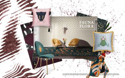 Mood Board mood boards MoodBoards – get inspired by trendy colors and textures fauna flora trends 2019 interior design mood board 480x300