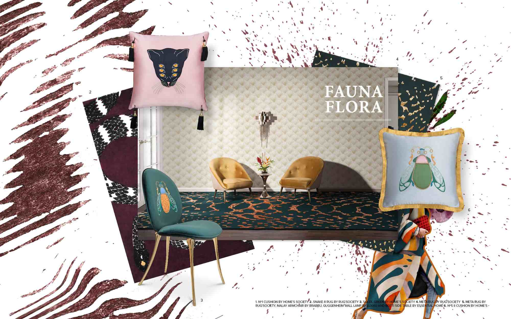 Mood Board mood boards MoodBoards – get inspired by trendy colors and textures fauna flora trends 2019 interior design mood board